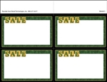 "R004071 4up w/Margin ""Sale"" with Marbled Border Ultimate Image on Uncoated Card Stock (formerly #915244)"
