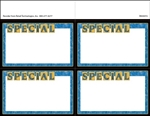 "R004072 4up w/Margin ""Special"" with Marbled Border Ultimate Image on Uncoated Card Stock (formerly #915254)"