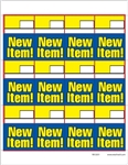 "R012031 12up AWG ""New Item"" Talker on Vinyl Stock w/ Removable Adhesive"
