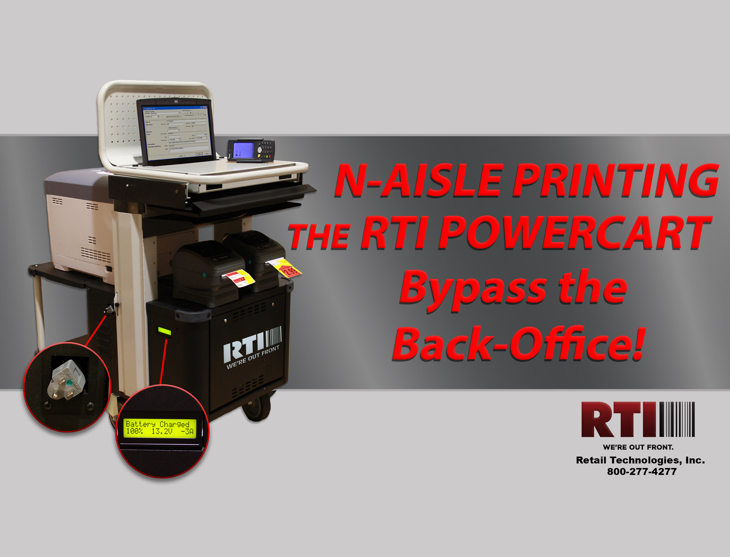 N-Aisle Printing with the RTI Powercart! Bypass the Back Office!