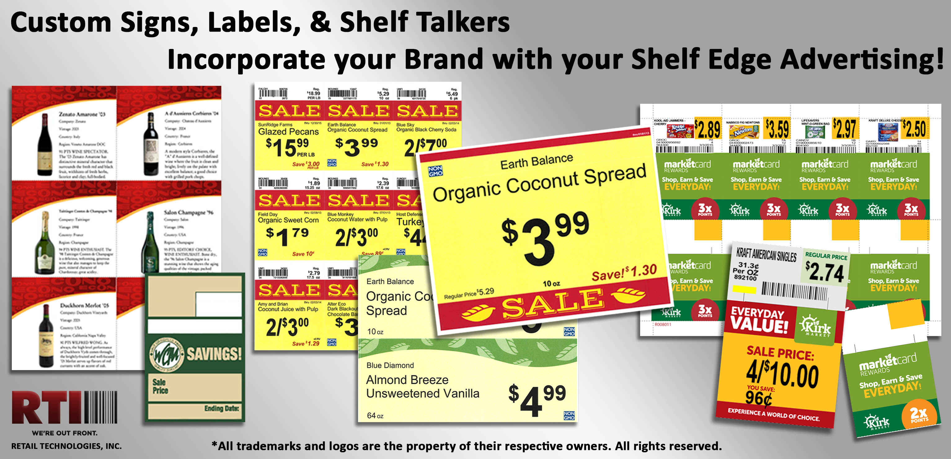 Custom Signs Price Cards Labels And Shelf Talkers Made