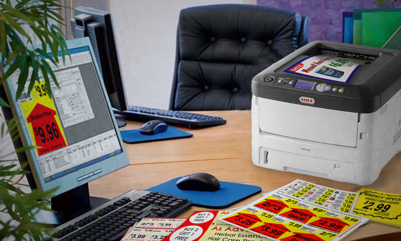 DESIGN R LABELS OKI Color Laser Printer And The Finished Product