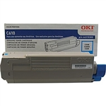 OKI Data C610 Cyan Toner Cartridge 6k Yield
