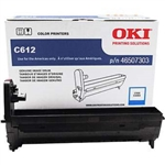OKI C612 Color laser printer Cyan 30k image drum