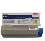OKI Data C612 Yellow  Toner Cartridge 6k Yield