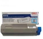OKI Data C612 Cyan Toner Cartridge 6k Yield