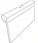 "8743 Flip Strip Label Holder For T-Scan Hook or Wire Shelving for 1.25"" x 3"""