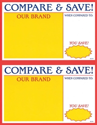 92510 2up Compare & Save Card Stock Signs