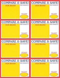 92520 8up Compare & Save Card Stock Signs