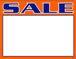 "R001004 1up Laser Bright Fluorescent ""Sale"" on Glossy Sign Stock (formerly #90565)"