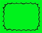 R001010-G 1up Burst Fluorescent Green Sign (formerly #95545g)
