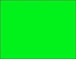 R001011-G 1up Blank Fluorescent Green on Un-coated CardStock (formerly 97500-G)