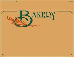 "R001080 1up w/Margin Bakery Department Sign on Card Stock 7"" x 11"""