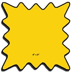 "8"" X 8"" Die Cut Fluorescent Yellow Bursts with Black Outline"