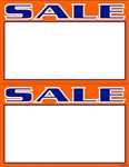 "R002004 2up Laser Bright Fluorescent ""Sale"" on Glossy Sign Stock (formerly #90665)"