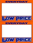 "R002005 2up Laser Bright Fluorescent ""Everyday Low Price"" on Glossy Sign Stock (formerly #90635)"