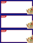 "R003104 3up Corner Image ""Special"" Grocery w/Blue Border on Glossy Cardstock"
