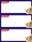 "R003105 3up Corner Image ""Special"" Grocery w/Blue Border on Glossy Cardstock"