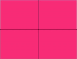 R004011-M 4up Blank Fluorescent Magenta on Uncoated Card Stock (formerly #97540-M)
