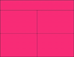 R004012-M 4up w/Margin Blank Fluorescent Magenta on Uncoated Card Stock (formerly #97510-M)