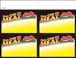 "R004073 4up w/Margin ""Fine Cuts of Meat"" with Marbled Border Ultimate Image on Uncoated Card Stock (formerly #915280)"