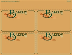 R004080 4up w/Margin Bakery Department Sign on Uncoated Card Stock