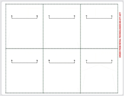 "R006003 6up Composite White Adhesive Shelf Talker 3 5/16"" x 3 15/16"" w/Horseshoe Cut (formerly #2455525-4)"