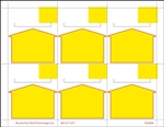 "R006006-Y 6up Yellow Arrow Non-Adhesive, Cardstock Shelf Talker 3.333"" x 3.75"" (formerly #91065)"