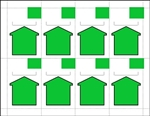 "8up Green Arrow Non-Adhesive Shelf Talkers 2.5"" x 3.6875"" formerly # 91081"