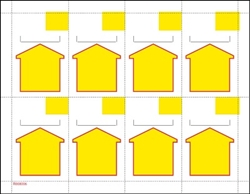 "8up Yellow Arrow Non-Adhesive, Cardstock Shelf Talker 2.5"" x 3.6875"" formerly # 91085"