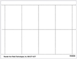 "R008008-BLANK 8up Blank White Adhesive Shelf Talker 2.5"" x 3.6875"""