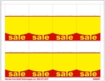 "R008091-RY 8up Red & Yellow ""SALE"" Adhesive Shelf Talker w/ Horseshoe Cut 2-1/2"" x 3-27/32"""