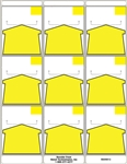 R009013 9up Adhesive Yellow Arrow Shelf Talker