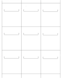 "9up Blank White Non-Adhesive, Coated Card stock Shelf Talker 2-1/2"" x 3-1/4"""