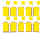 "R010006-Y 10up  Yellow Arrow Non-Adhesive, Cardstock Shelf Talker 2"" x 4""(formerly #91095)"