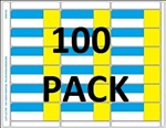 18up Blue/Yellow 3-in-1 Adhesive Labels