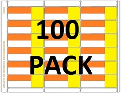 18up Orange/Yellow with Face Perforation on Composite Stock w/ Removable Adhesive