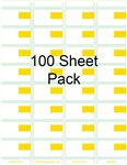 "R032019-Y-100pk Eco-friendly Composite With Yellow Price Box Adhesive Label 1.9375"" x 1.125"""