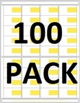 "R036001-Y-100pk 36up Composite Yellow, and White Adhesive Label (1 7/8"" x 1 1/8"")"
