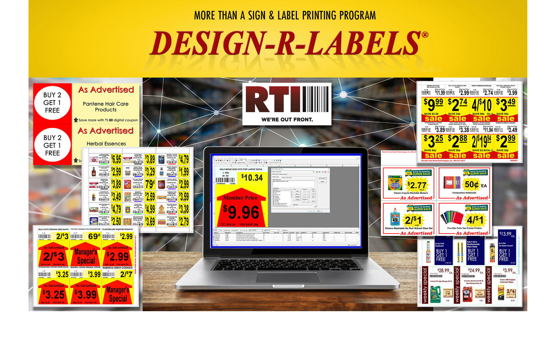 Signage Labels Shelf Talkers Printing Supplies